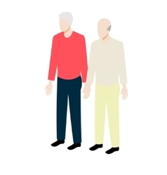 Old gay isometric couple vector image