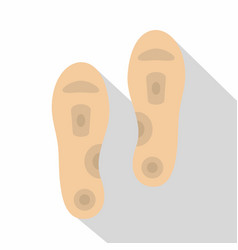 Orthopedic insoles icon flat style vector