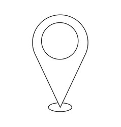 Pin map location navigation gps concept vector