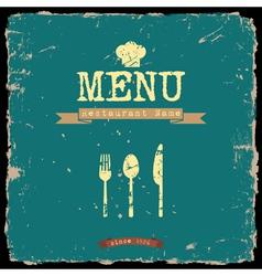 Restaurant menu retro style design vector