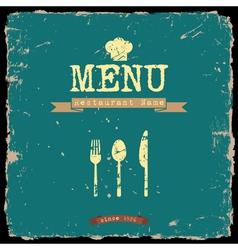 restaurant menu Retro style design vector image