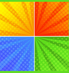 Round shapes on four different background vector