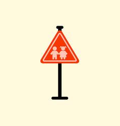 school warning road sign kids road symbol vector image vector image