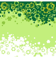 Shamrock leaf background vector