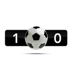 Soccer or football 3d ball with score vector
