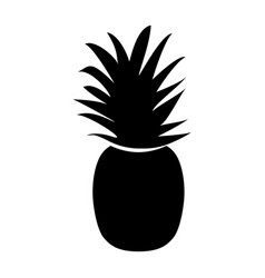 The pineapple black color icon vector