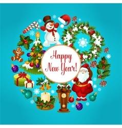 Winter holidays celebration poster design vector image vector image