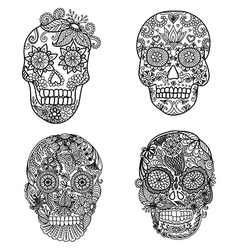 skulls coloring vector image