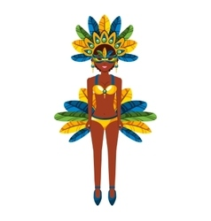 Beautiful carnival dancer character vector
