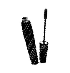 black eyelash mascara icon vector image