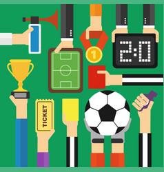 modern soccer flat design vector image