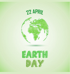 Green earth day background vector