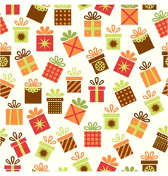 Seamless background with gifts vector