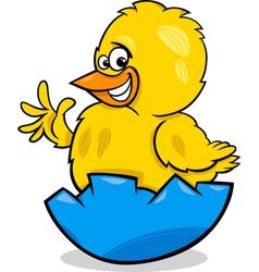 Easter chicken cartoon vector