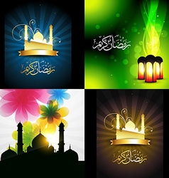 Beautiful set of ramadan kareem festival vector