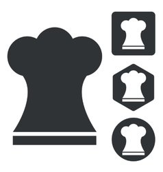 Chef hat icon set monochrome vector