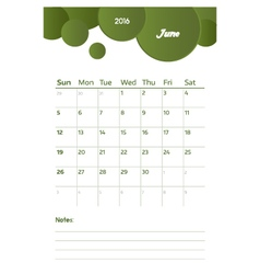 June notes vector
