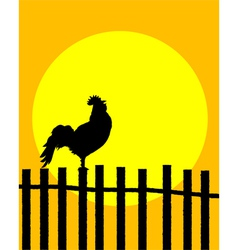 Rooster silhouette vector