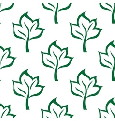 Green maple tree seamless pattern background vector