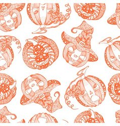 Decorative seamless monochrome pattern with vector
