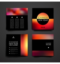 Set of modern design banner template in chinese vector