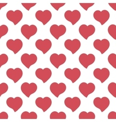 Big red hearts hand drawn artistic isolated vector