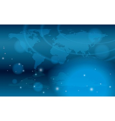abstract background with bokeh and map vector image