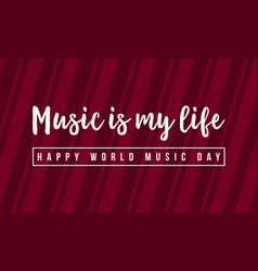 Background style music day celebration vector