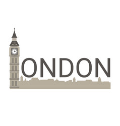 banner of london city banner of london city vector image vector image