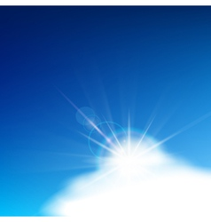 bright blue sky vector image vector image