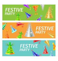 Festive party advertising poster vector