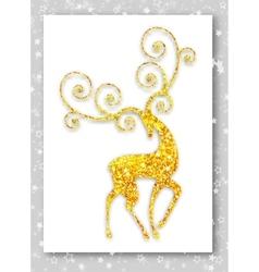 Gold deer in modern style ideal for merry vector