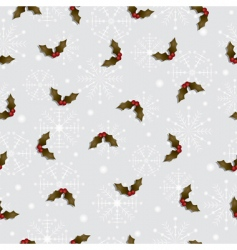 holly pattern vector image vector image