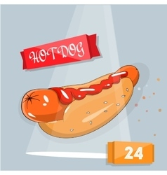 Hot dog icon for fast food vector