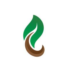 leaf eco nature logo image vector image