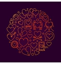 Love round symbol vector image vector image