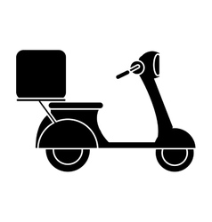Motorcycle scooter delivery food pictogram vector