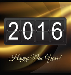 new years card with black counter vector image