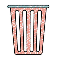 Plastic basket laundry icon vector