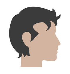 profile head man male character vector image