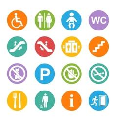 Public icons set vector