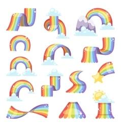 Rainbow set vector image vector image