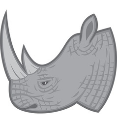Rhino head vector image vector image