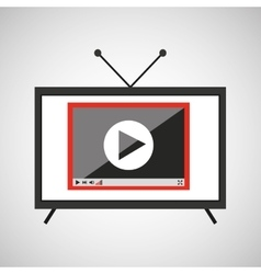 Screen tv movie video player vector