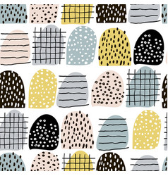 Seamless abstract pattern with hand drawn elements vector
