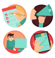 set of business concepts vector image vector image