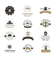 Set of coffee shop sign cafe symbol espresso vector image vector image