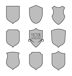 shield silhouette for graphic design vector image vector image