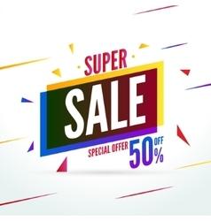 Super Sale special offer 50 off discount baner vector image vector image
