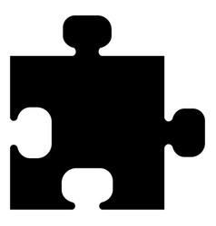 the puzzle black color icon vector image